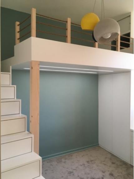 Lit en mezzanine – chambre d'enfant