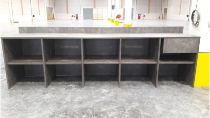 comptoir de quai – entrepôt logistique 45 – sur mesure